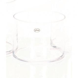Dekoglas Vase ZYLINDER H. 15cm Ø 19cm Glas klar rund Rudolph Keramik