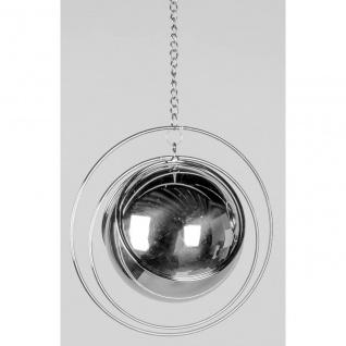 Deko Hänger BALL D. 15cm Spirale mit Kugel silber Metall Formano F20