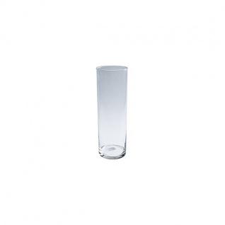 Deko Glas Vase Zylinder DAMA H 30cm D.10cm rund transparent klar Jodeco