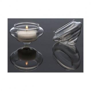 Teelichthalter SWIM schwimmend Glas D. 6, 5cm H.4, 5 cm transparent Sandra Rich