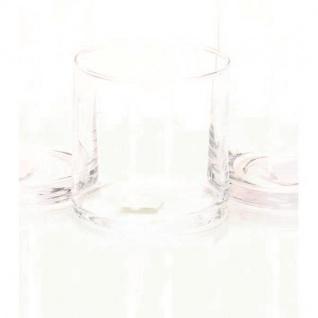 Teelichthalter Dekoglas Vase ZYLINDER H. 10cm Ø 10cm Glas klar Rudolph Keramik