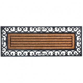 XXL Fußmatte Fußabtreter Gummi & Kokos 120x45cm rechteckig Esschert Design