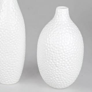 Deko Vase DOTS PUNKTE H. 36cm weiß Keramik Formano WA