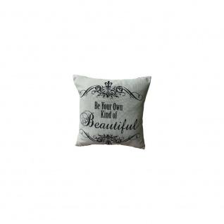 Kissen mit Füllung BEAUTIFUL 45x45cm schwarz weiß Baumwolle Polyester My Flair