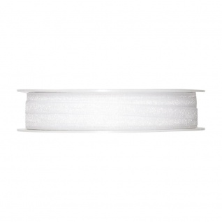 Schleifenband, Dekoband Organza 5mm, weiß, 50m Rolle (1m=0, 08 EUR), Halbach