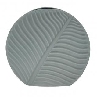 Deko Vase BANANA LEAF Blatt large grau H. 31cm 33, 5x8, 5cm Keramik Sandra Rich WA