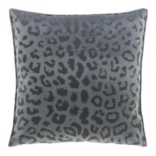 Kissen mit Füllung NALA LEO Muster 45x45cm dark grey grau Unique Living