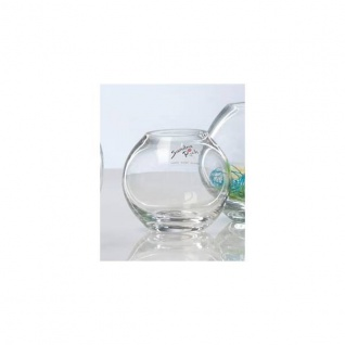 6er SET Kugelvasen Teelichthalter GLOBE KUGEL Glas H. 8cm D 8cm Sandra Rich