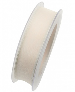Organzaband mit formstablier Kante 25mm ivory weiß 20m Rolle (1m=0, 40EUR) Goldin