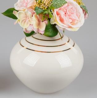 Deko Vase GOLDLINE H. 17cm creme weiß gold Keramik Formano WA