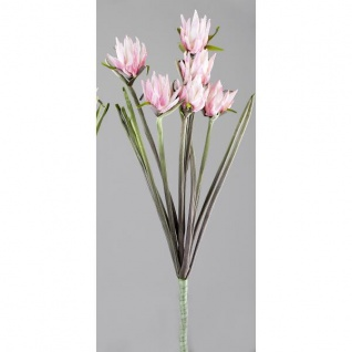 künstlicher Blütenzweig, Dekozweig, Kunstblume rosa grün H. 95cm Formano WA