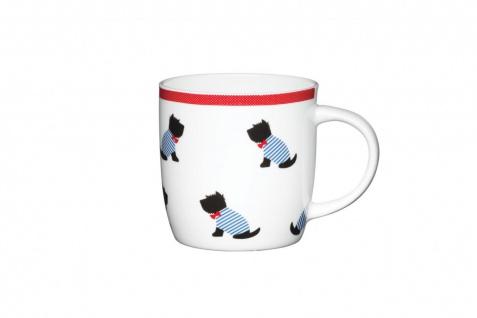 Becher, Tasse WESTIE DOGS sitzende Hunde für 350ml weiß Porzellan KitchenCraft