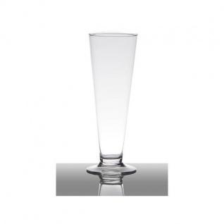 Dekoglas, Vase auf Fuß MINI CIELO H. 24cm D. 7cm konisch rund klar Hakbijl