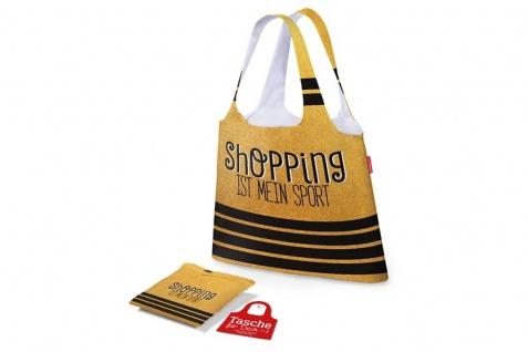 Einkaufstasche Beutel SHOPPING SPORT gelb gestreift 100 % Polyester LaVida WA