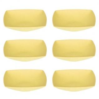 6er SET Suppenteller, Müslischalen quadratisch 18x18cm gelb Magu NATUR DESIGN
