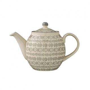 Teekanne KARINE mit Muster grau D. 24cm H. 16cm für 1000ml Bloomingville