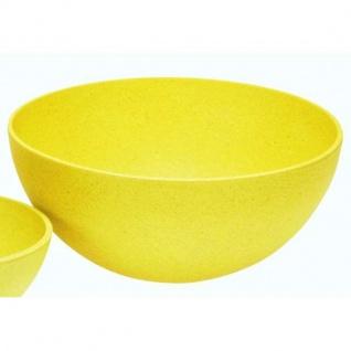 Schüssel, Schale gelb D. 20cm H. 9cm Bambus rund Magu NATUR DESIGN WA