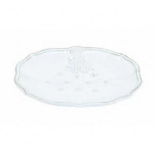 Seifenschale CORONA weiß 11x14cm H. 2, 5cm Keramik Virginia Casa WA