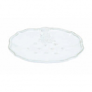 Seifenschale CORONA weiß 11x14cm H. 2, 5cm Keramik Virginia Casa