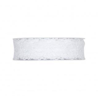 Häkelspitze 28mm 7m Rolle Dekoband 1m=1,27 EUR Halbach creme Schleifenband