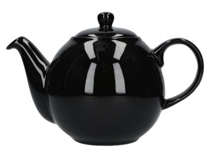 Teekanne London Pottery Globe schwarz glänzend 900ml Keramik Creative Tops