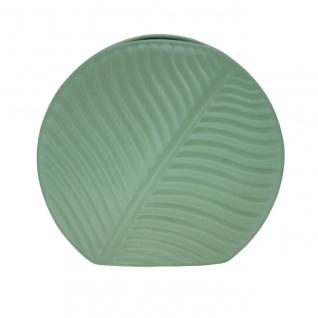 Deko Vase BANANA LEAF Blatt small grün H. 18cm 19, 5x4, 5cm Keramik Sandra Rich WA