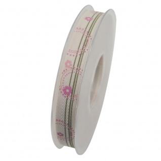 Schleifenband ALEXIS 15mm creme rosa (1m=0, 40EUR) 20m Rolle Goldina WA