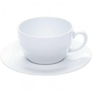 Tasse Cappuccinotasse 0, 25l mit Untertasse PRONTO Weiß Porzellan KAHLA