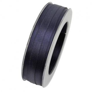 Doppelsatin Stoffband Schleifenband 10mm (M=0, 20EUR) navy blau 25m Rolle Goldina