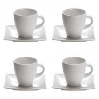 4er Set Tasse mit Untertasse EAST MEETS WEST für 170ml weiß Maxwell & Williams