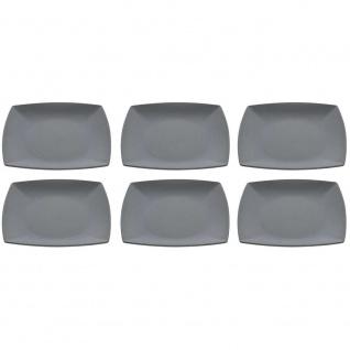 6er SET Kuchenteller, Platten quadratisch 21x21cm schiefer Magu NATUR DESIGN