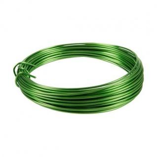 Deko Basteldraht, Aluminiumdraht apfelgrün 3 Meter D. 2mm (0, 50â?¬/m)Season