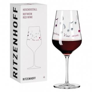 Ritzenhoff Herzkristall RED Rotweinglas 03 NOTEN by Angela Schiewer 2016