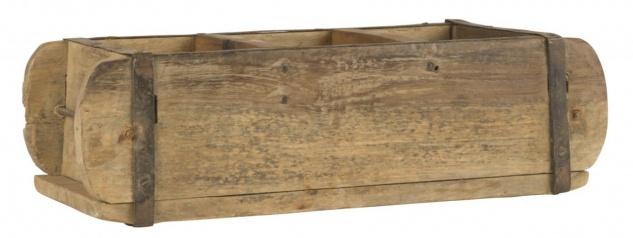 Aufbewahrung Ziegelform UNIKA 3-Fach unterteilt L 31cm B 15cm Holz Ib Laursen