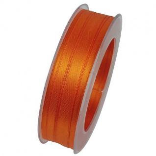 Doppelsatin Stoffband Schleifenband 10mm (1m=0, 20EUR) orange 25m Rolle Goldina