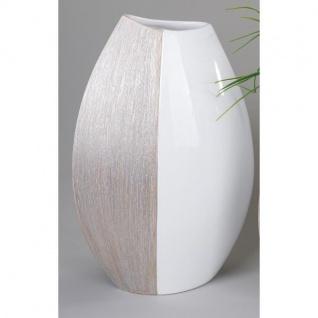 14,5cm silber Keramik Hendriks 34cm B Deko Vase LEAF BLATT H