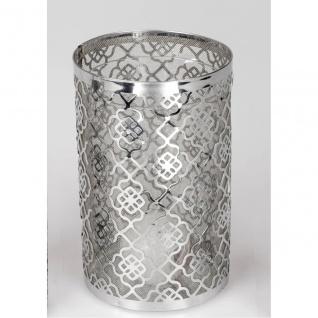 Windlicht mit Metallbügel MILLSAP Glas H 20cm D 18cm Decostar WA Teelichthalter