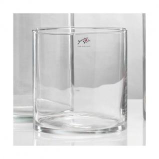 Glasvase, Dekoglas CYLI Glas zylindrisch rund H. 20cm D. 19cm klar Sandra Rich