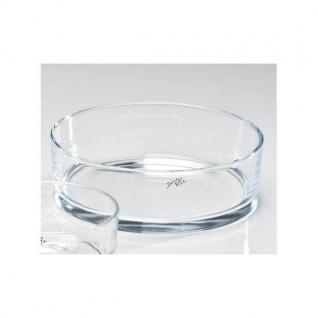 Glasschale, Dekoschale AUTOMATIC H. 8cm D. 25cm rund klar Glas Sandra Rich