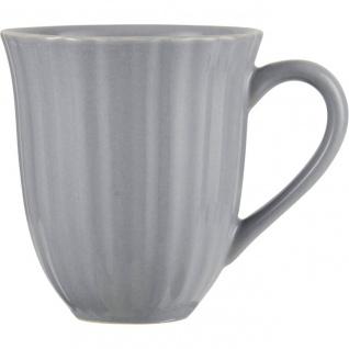Kaffeebecher, Tasse FRENCH GREY hellgrau für 300ml H. 10cm Steingut Ib Laursen