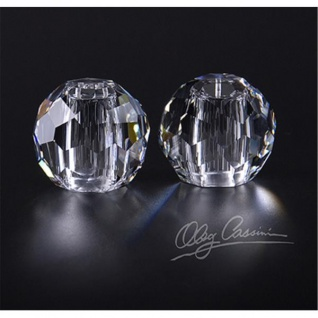 2er Set JACKIE Salz- & Pfefferstreuer aus Kristallglas H. 5cm rund Paul Nagel
