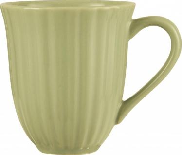 Kaffeebecher, Tasse MYNTE HERBAL GREEN für 300ml grün Steingut Ib Laursen