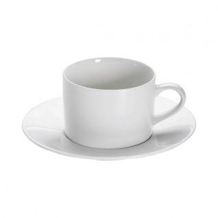 Tasse mit Untertasse WHITE BASICS ROUND 220ml weiß Porzellan Maxwell & Williams