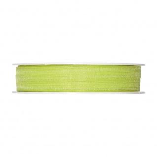 Schleifenband, Dekoband Organza 5mm, grün, 50m Rolle (1m=0, 08EUR), Halbach