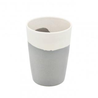 Trinkbecher SILVER FLOW creme grau H. 11cm Magu Bambus NATUR DESIGN WA