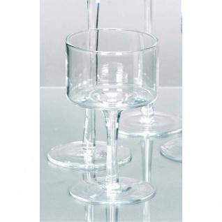 Teelichthalter Kerzenglas auf Fuß COPPA H. 15cm Ø 9cm Glas klar Rudolph Keramik