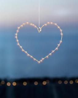 LED Hänger Herz HEART 40 Lichter H 26cm Gold mit Timer Sirius