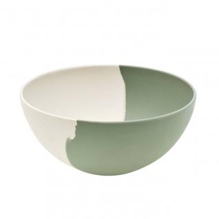 Schüssel, Schale GREEN FLOW creme grün D. 26cm H. 11cm Bambus Magu NATUR DESIGN