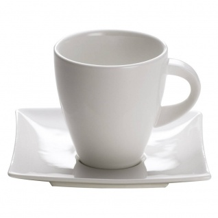 Tasse mit Untertasse EAST MEETS WEST für 170ml H. 8, 5cm weiß Maxwell & Williams