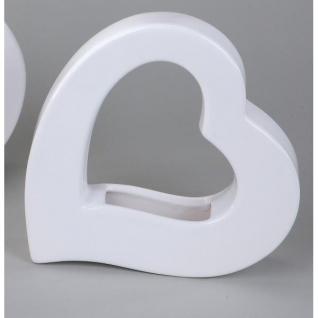 10er SET Vasen Pflanzgefäße HERZEN H. 18cm weiß Keramik Formano